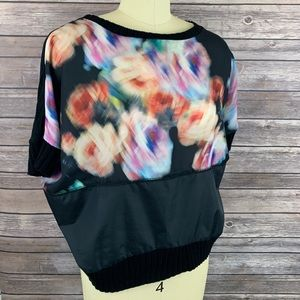 Zara Black & Multi Color Top